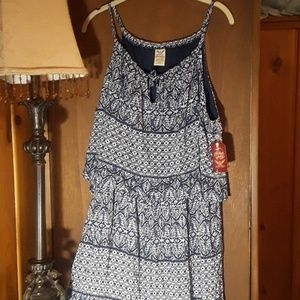 Dresses & Skirts - Blue summer dress szXL  16-18 NWT